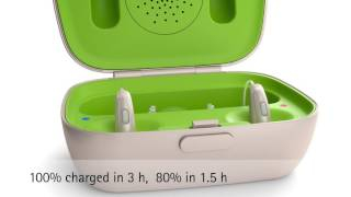 How to charge Phonak Audéo B-R hearing aid with the Phonak Charger Case